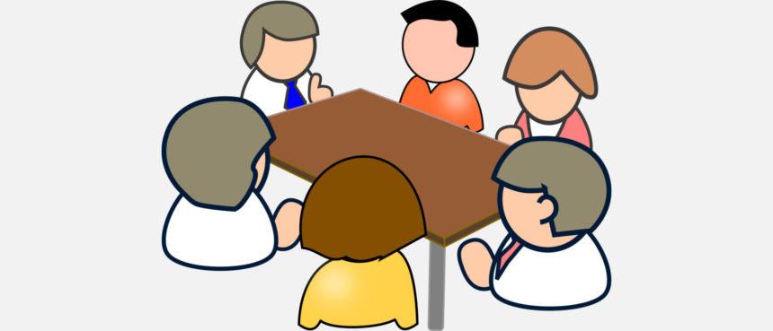Dibujo de una reunión